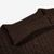 Johnstons of Elgin Dark Brown Cable Knitted Cashmere Roll Neck Collar