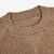 Johnstons of Elgin Taupe Reversible Cashmere Fleece Sweater Collar