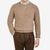 Johnstons of Elgin Taupe Reversible Cashmere Fleece Sweater Front