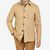 Lardini Camel Beige Wool Blend Shacket Front