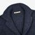 Maurizio Baldassari Denim Blue Heavy Knitted Wool Brenta Jacket Collar