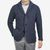 Maurizio Baldassari Denim Blue Heavy Knitted Wool Brenta Jacket Front (kopia)