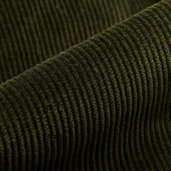 San Siro Green Cotton Corduroy Palma Trousers Fabric
