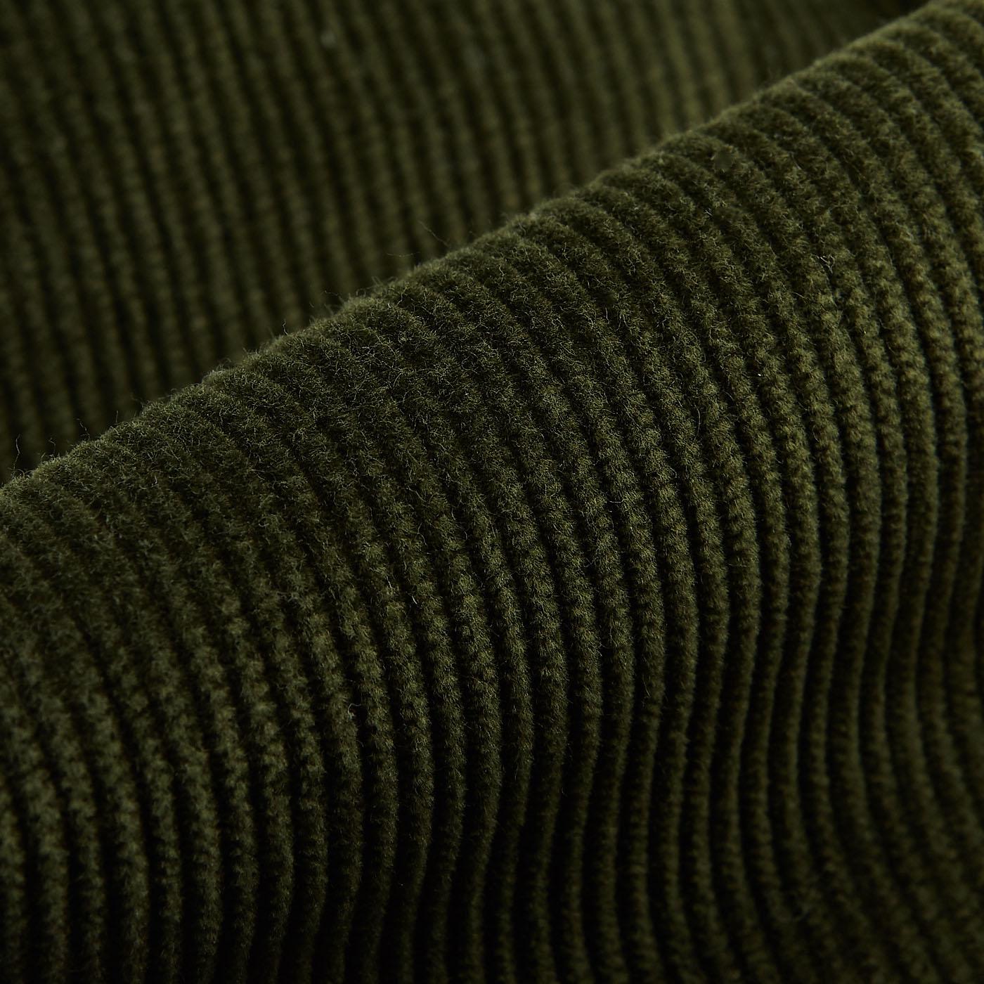 San Siro Green Cotton Corduroy Palma Trousers Fabric
