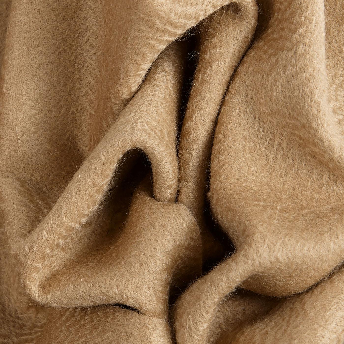 Amanda Christensen Camel Pure Cashmere Scarf Fabric