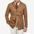 Baltzar Sartorial Warm Beige Cotton Moleskin Safari Jacket Front