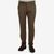 Berwich Brown Cotton Twill Flat Front Trousers Front