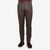 Berwich Burgundy Checked Wool Flat Front Trousers Front