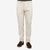 Berwich Cream White Cotton Twill Flat Front Trousers Front