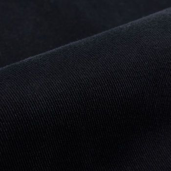 Berwich Navy Cotton Twill Flat Front Trousers Fabric