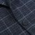 Canali Blue Checked Wool Cashmere Jacket Closed