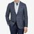 Canali Blue Checked Wool Cashmere Jacket Front