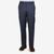 Canali Blue End on End Wool Stretch Trousers Front