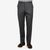 Canali Grey Wool Flannel Flat Front Trousers Front 22983