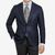 Canali Navy Blue Unconstructed Wool Blazer Front