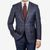 Canali Navy Red Checked Tailored Jacket Front