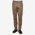 De Petrillo Brown Wool Cavalry Twill Pleated Trousers Front