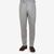 De Petrillo Light Grey Wool Flannel Pleated Trousers Front