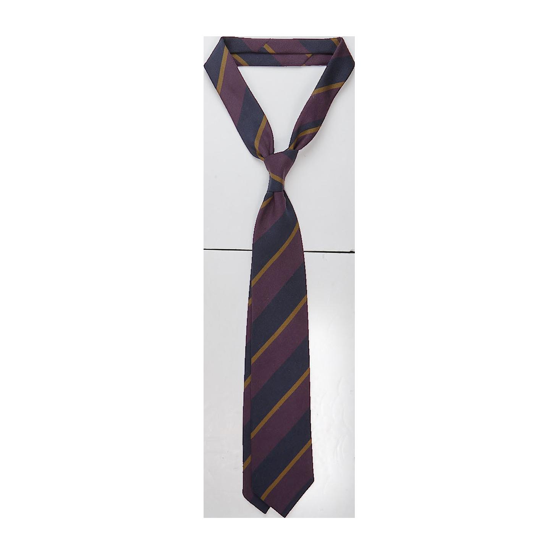 Drake's Purple Regimental Striped Silk Tie Feature (kopia)