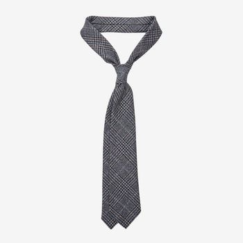 Dreaming of Monday Blue Brown Checked 7-Fold Merino Wool Tie Feature (kopia)
