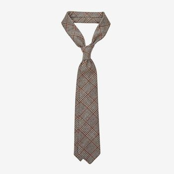 Dreaming of Monday Brown Checked 7-Fold Loro Piana Wool Tie Feature (kopia)