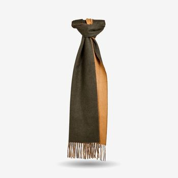 Johnstons of Elgin Beige Green Pure Cashmere Scarf Feature (kopia)