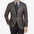 Luigi Bianchi Mantova Brown Checked Wool Silk Cashmere Blazer Front