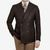 Tagliatore Brown Structured Wool Cotton DB Blazer Front