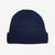 William Lockie Blue Cashmere Ribbed Beanie Feature