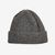 William Lockie Grey Geelong Lambswool Ribbed Beanie Feature