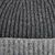 William Lockie Grey Two Tone Cashmere Ribbed Beanie Fabric