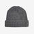 William Lockie Mid Grey Cashmere Ribbed Beanie Feature