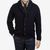 William Lockie Navy Lambswool Shawl Collar Cardigan Front
