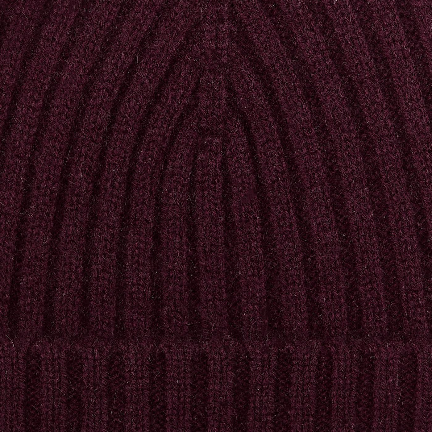 Amanda Christensen Burgundy Ribbed Cashmere Cap Fabric