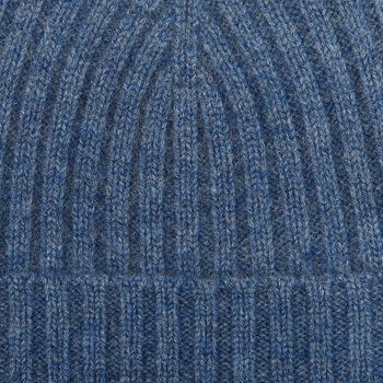 Amanda Christensen Light Blue Ribbed Cashmere Cap Fabric