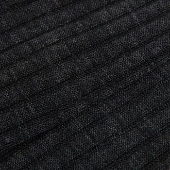 Pantherella Grey Merino Wool Ribbed Knee Socks Fabric