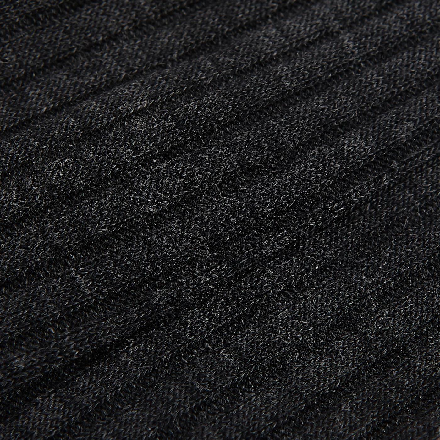 Pantherella Grey Merino Wool Ribbed Knee Socks Fabric