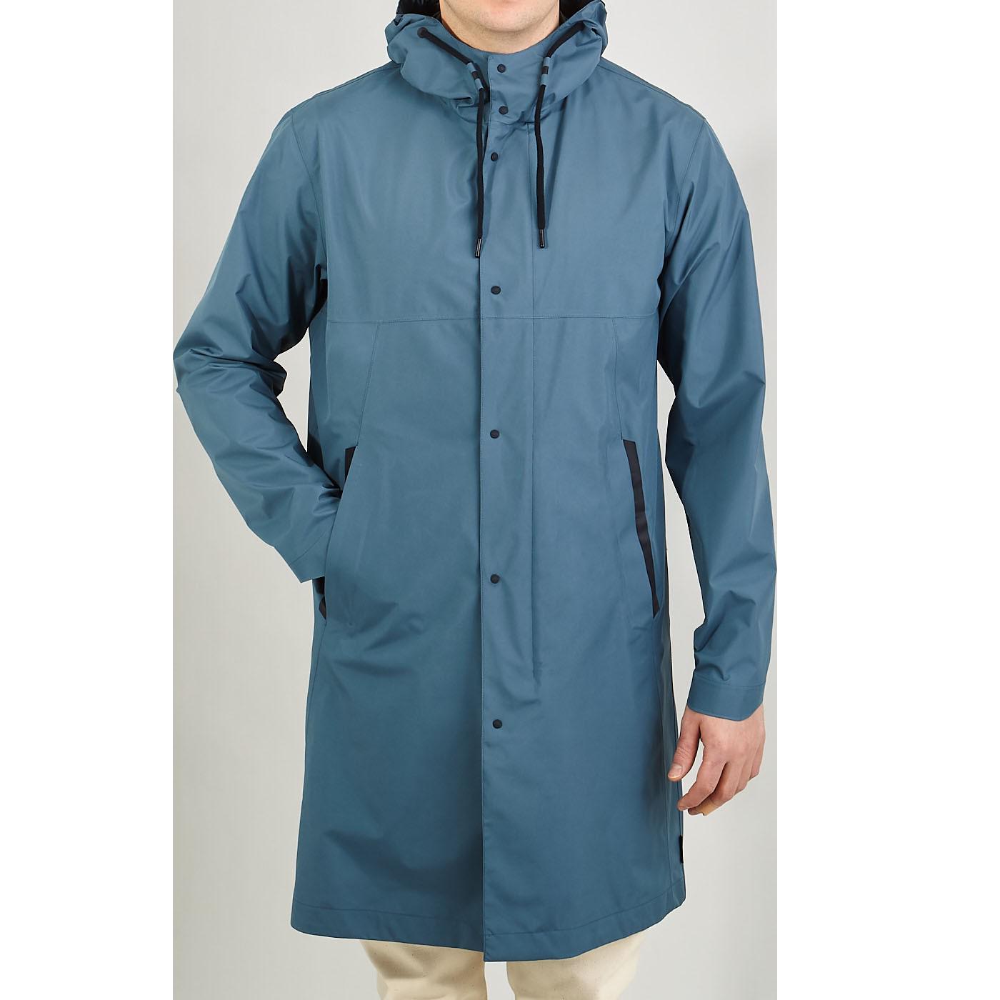 Herno Cold Blue Technical Nylon Laminar Parka Front