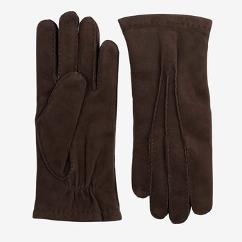 Hestra Brown Cashmere Lined Hairsheep Suede Gloves Feature