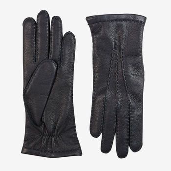 Hestra Navy Cashmere Lined Elk Gloves