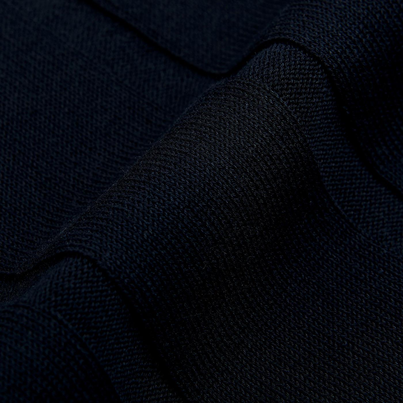 Lardini Navy Rib Knitted Cotton T-shirt Fabric