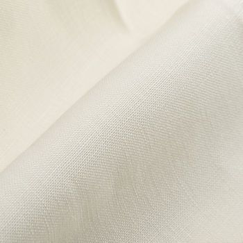 Berwich Cream White Linen Pleated Gurkha Trousers Fabric