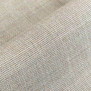 Canali Beige Wool Hopsack Single Pleat Trousers Fabric