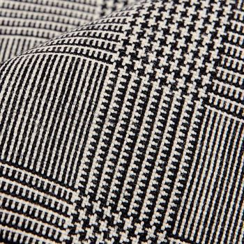 Dreaming of Monday Black Glencheck 7-Fold High Twist Wool Tie Fabric