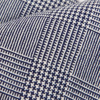 Dreaming of Monday Blue Glencheck 7-Fold High Twist Wool Tie Fabric