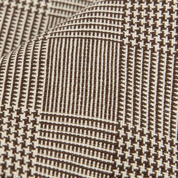 Dreaming of Monday Brown Glencheck 7-Fold High-Twist Wool Tie Fabric