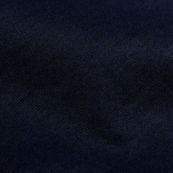 Gran Sasso Canali Navy Cotton Stretch Jogger Shorts Back Fabric