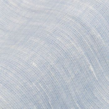 Stenströms Light Blue Linen Slimline 1899 Shirt Fabric