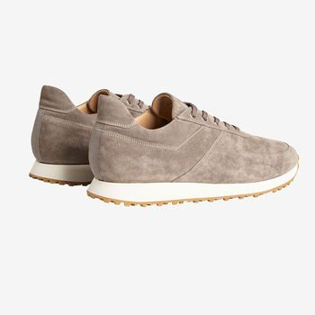 C.QP Taupe Suede Stride Retro Runner Back