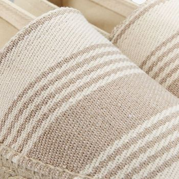 Castañer Beige Striped Cotton Pedro Espadrilles Fabric